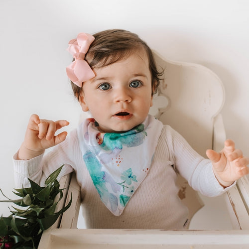Dribble Bib - Sweet Petal - Little Oak + Co
