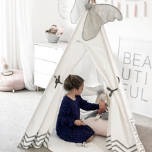 White & Grey Teepee - Pearly Moon - Little Oak + Co