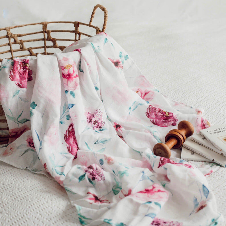 Wanderlust Organic Muslin Wrap - Little Oak + Co
