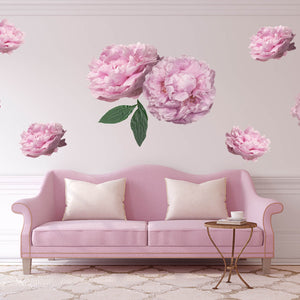 Pink Peonies Wall Decals