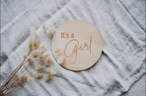 Single Announcement Disc - Its a Girl - Little Oak + Co
