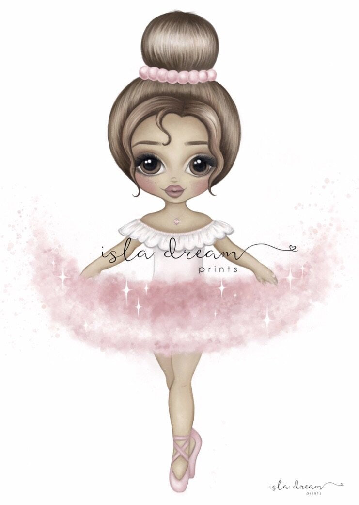 Ariana The Ballerina Print - Pink - Little Oak + Co
