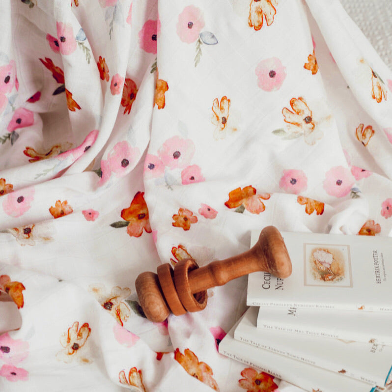 Poppy Organic Muslin Wrap - Little Oak + Co