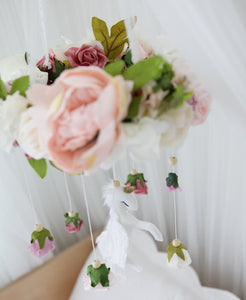 Flying Unicorn Floral Mobile - Little Oak + Co
