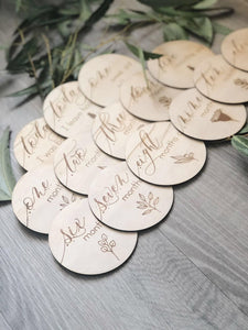 Wooden Milestone Discs - Australiana - Little Oak + Co