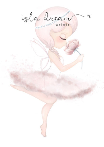 Crysta The Ballerina Fairy Print