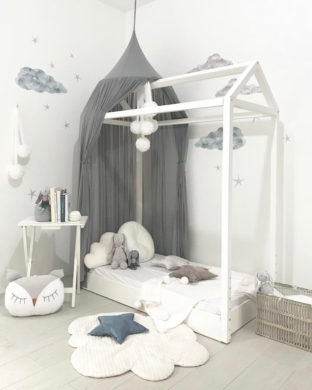 Spinkie Sheer Canopy - Smoke - Little Oak + Co