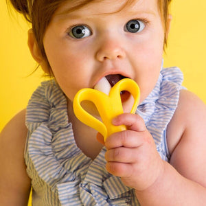 Baby Banana Brush Teether/Toothbrush - Little Oak + Co