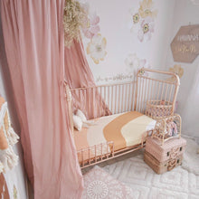 Peach Rainbow Cot Sheet - Little Oak + Co