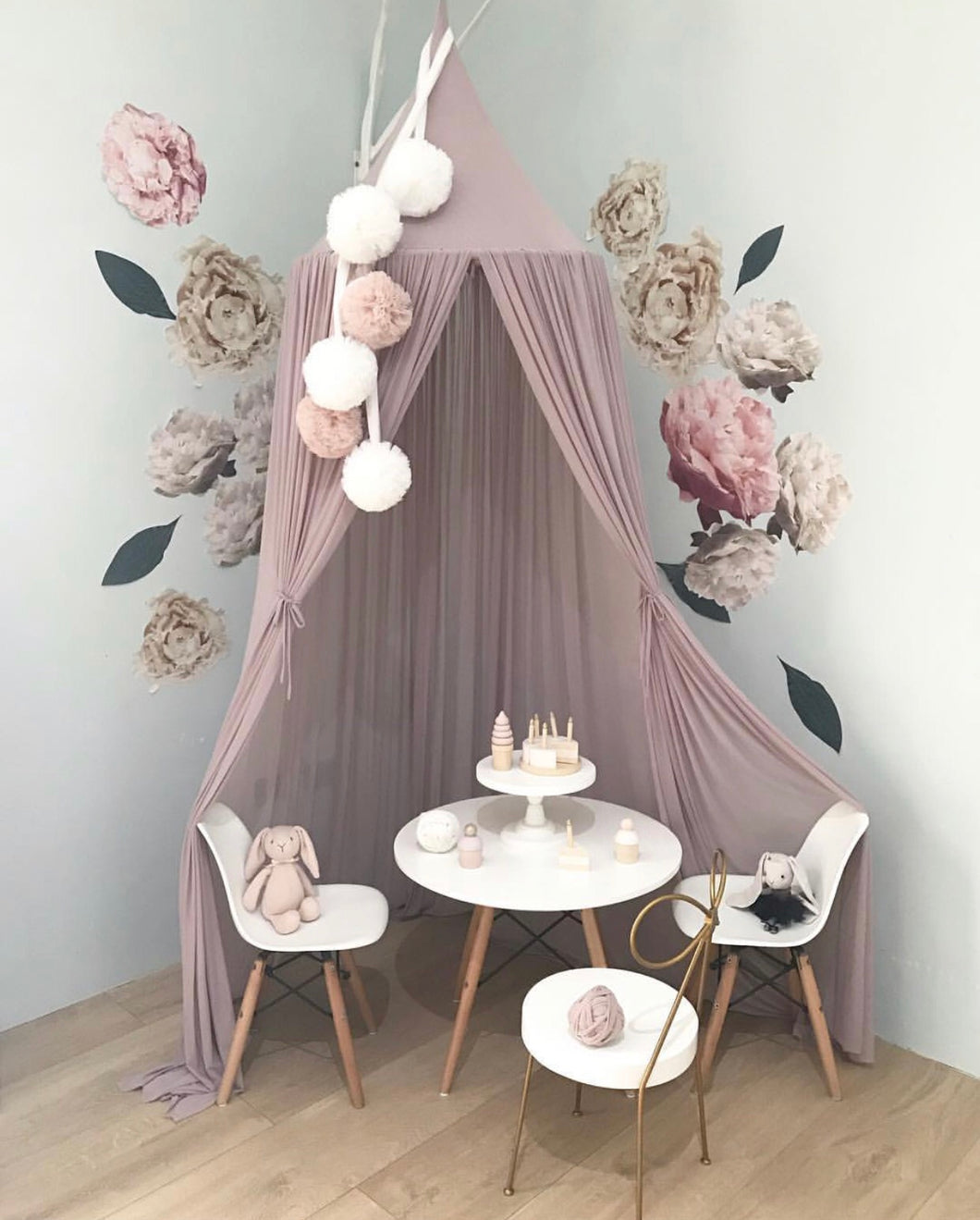 Spinkie Sheer Canopy - Old Rose - Little Oak + Co