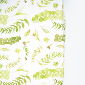 Native Leaves Bassinet Sheet - Little Oak + Co
