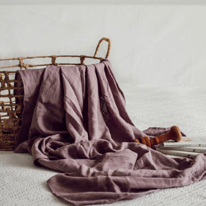 Dusk Organic Muslin Wrap - Little Oak + Co