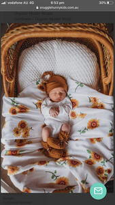 Sunflower Organic Muslin Wrap - Little Oak + Co
