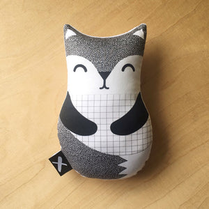 Grey Fox 'Baby Babushka' organic cotton rattle - Little Oak + Co