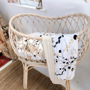 Golden Gum Jersey Bassinet Sheet - Little Oak + Co