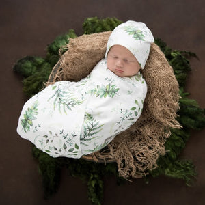 Enchanted Snuggle Swaddle & Beanie Set - Little Oak + Co