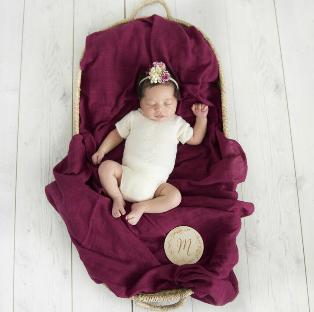 Ruby Organic Muslin Wrap - Little Oak + Co