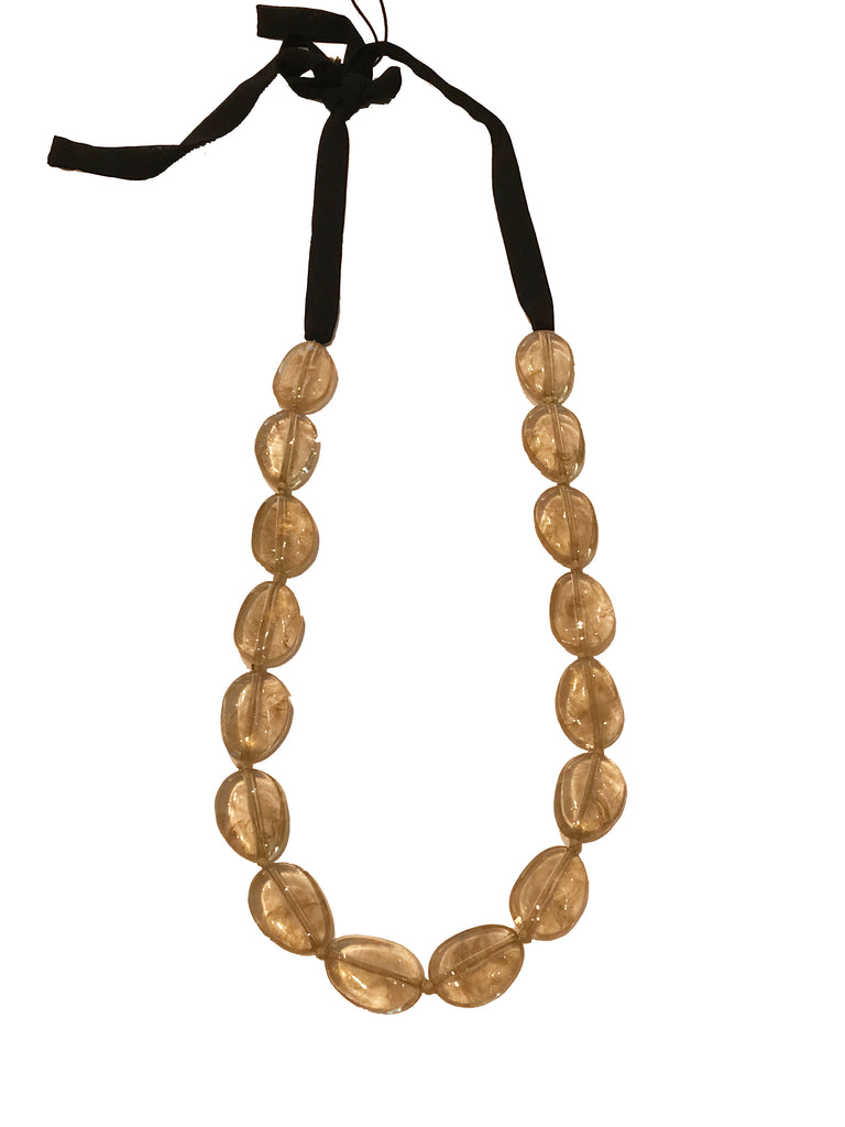 Gold Metallic Beaded Necklace