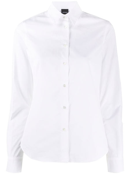 Basic White Fitted Cotton Shirt