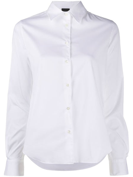 White cotton stretch classic shirt
