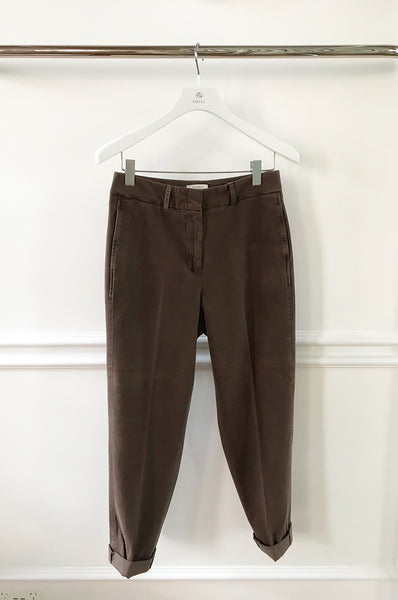 Brown brushed cotton trouser