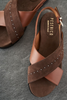 Brown Suede and Leather Sandal