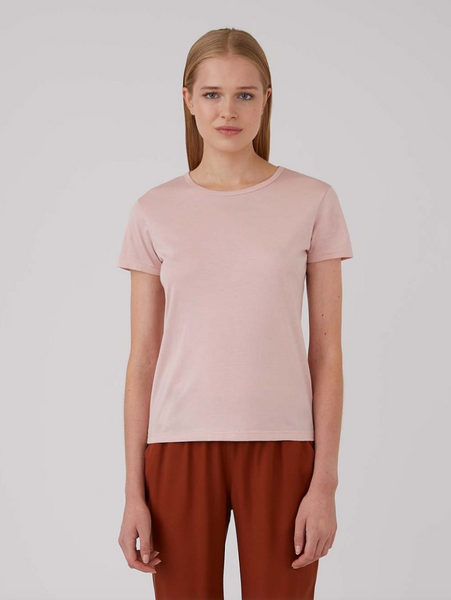 Dusty Pink Classic Short Sleeve Crew T Shirt