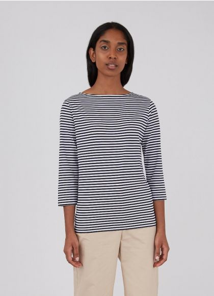 Boatneck Striped T Shirt