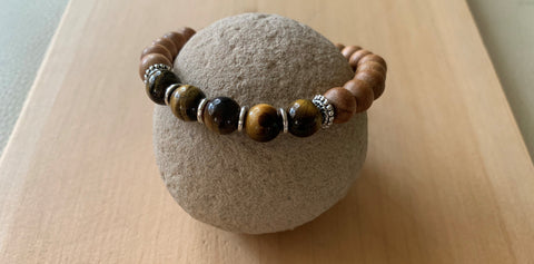 Gold Raven Tibet Brown bracelet