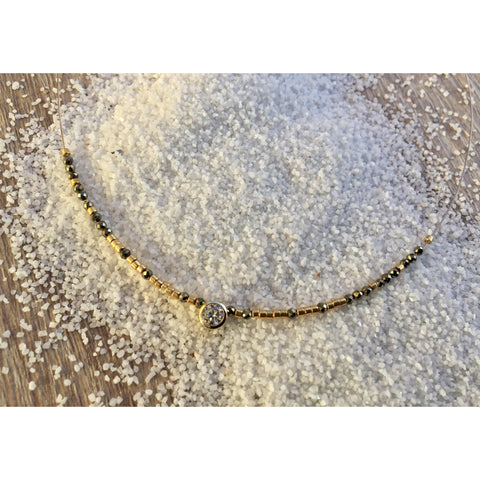 Lya Silver Y necklace