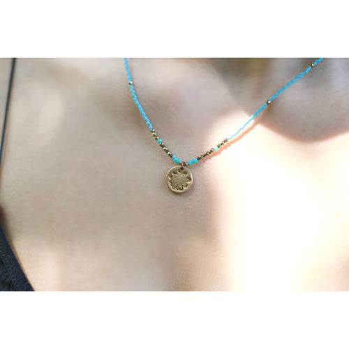 kids necklace with a lotus flower