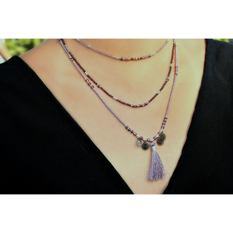 Meagan Smoky Point Long Necklace