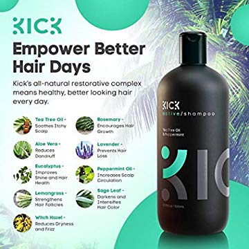 Kick Tea Tree Shampoo for Men 17 oz