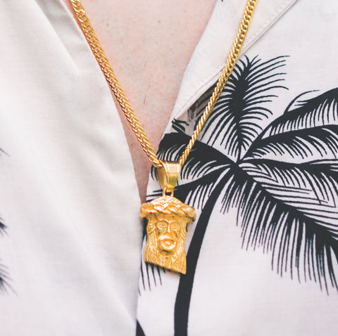 Necklaces tagged mini jesus piece cold gold ph cold gold ph urban jewelry mini jesus piece gold pvd plated aloadofball Choice Image
