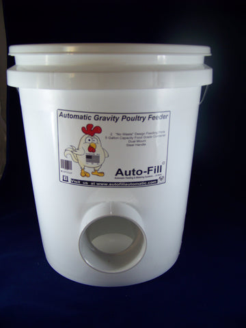 Auto-Fill© Chicken Starter Set 5 Gallon Feeder & 5 Gallon Waterer w/ Garden Hose Connection