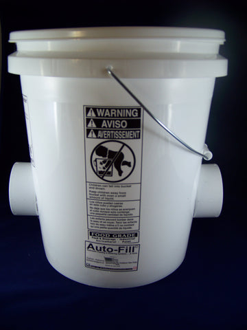 "Auto-Fill© Automatic Gravity Chicken Feeder 5 Gallon 2 ""No Waste""  Feeding Ports"