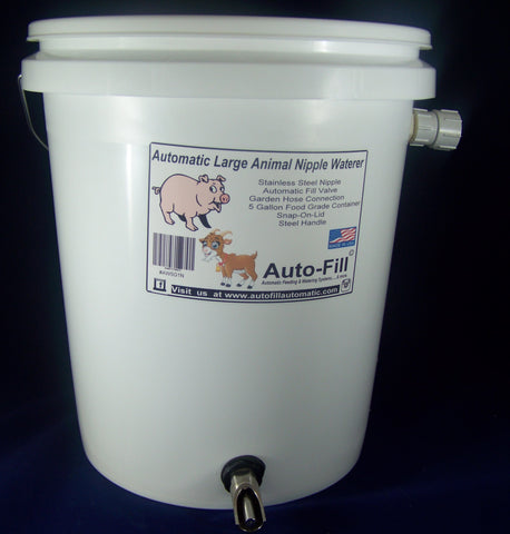 Auto-Fill© Automatic Large Animal Nipple Waterer Garden Hose Connection - Pig Goat Sheep