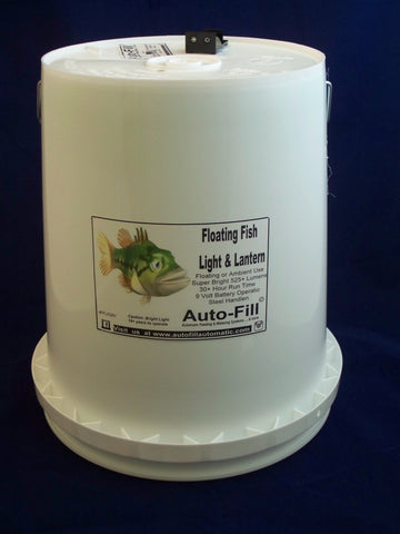 Floating Fish CRAPPIE Attracting Light & Lantern 5 Gallon by Auto-Fill©