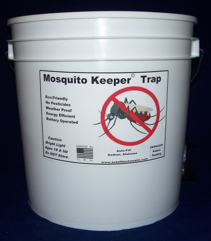 Mosquito Keeper Trap System 2 gallon 9 Volt Portable by Auto-Fill©