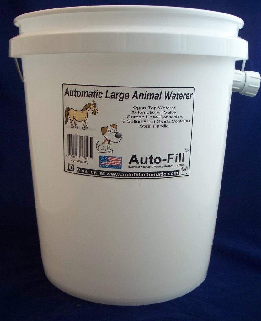 Auto-Fill© Automatic Large Animal Pig Waterer 5 Gallon Open-Top Garden Hose Connection