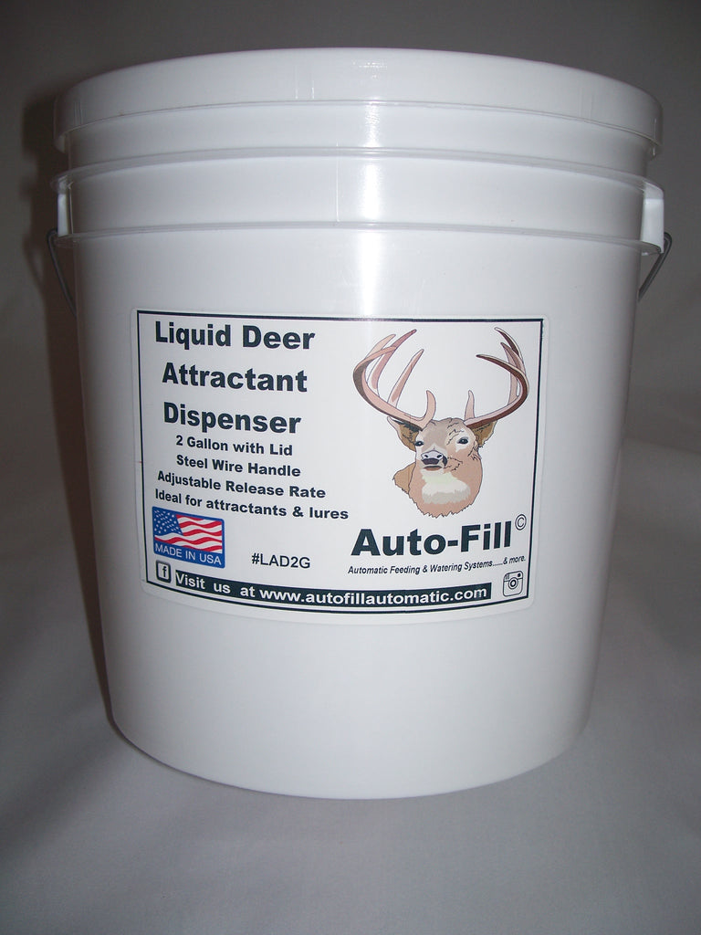 Liquid DEER Attractant Dispenser - Adjustable Flow Rate - 2 Gallon - Made in USA