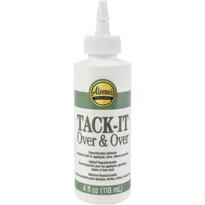 Aleene's Tack it Over and Over™ Glue - 4 oz, tumbler tack it method