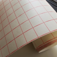Red Grid Transfer tape - high tack - 12 inch x 10 feet with liner