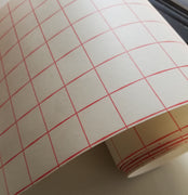 Red Grid Transfer tape - high tack - 8 inch x 10 feet with liner