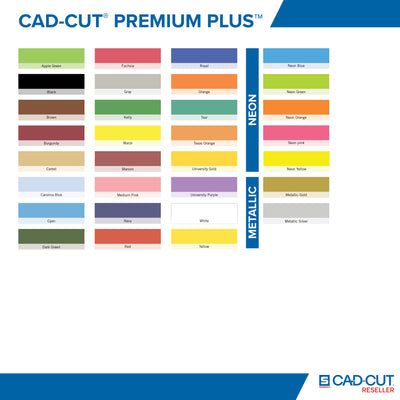 Stahls CAD-CUT® Premium Plus Low-Tack Heat Transfer Vinyl Sheet 12x20 inch