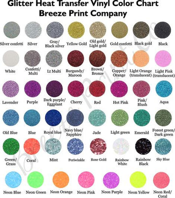 Glitter HTV 25 Yards - Breeze Crafts