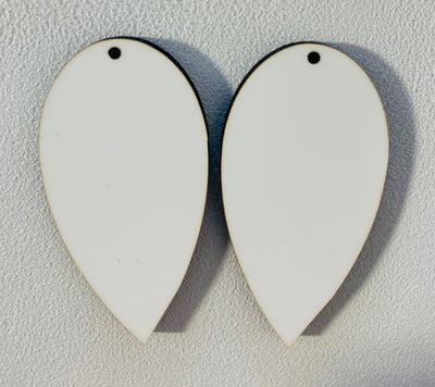 Sublimation Earrings, teardrop, 1.5 inch - 1 sided SE1