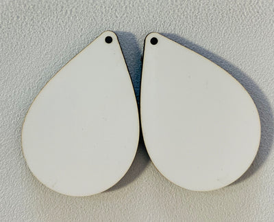 Sublimation Earrings, teardrop, 1.5 inch - 1 sided SE2