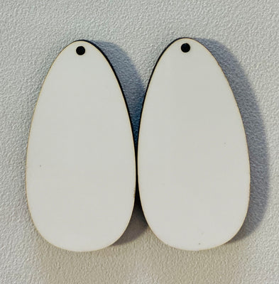 Sublimation Earrings, teardrop, 1.5 inch - 1 sided SE3