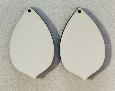 Sublimation Earrings, pointed teardrop, 1.5 inch - 1 sided SE5